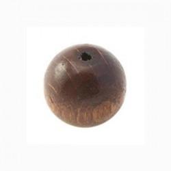 Perle en bois 15mm brun