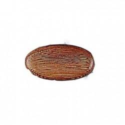 Perles en bois grand oval plat rob 30X15MM