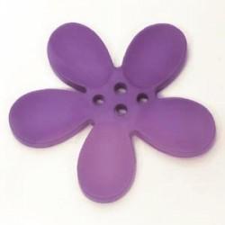 Orchidee résine 4 trous 40mm Mauve