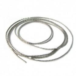 Chaine cobra argentée brillant 0.8mm /1m