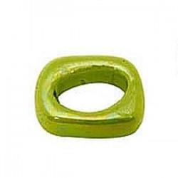 anneau céramique 17x14x12 mm Vert flash émaillé