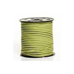 Lanière daim artificielle vert anis/ 1m