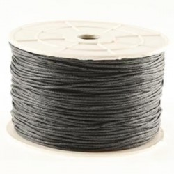 Coton ciré gris foncé 3mm / 1M