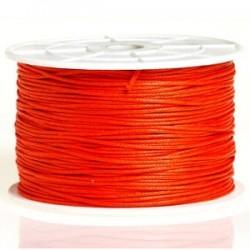 Coton ciré orange 1mm / 1M