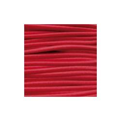 Cordon élastique 2mm Rouge /1m