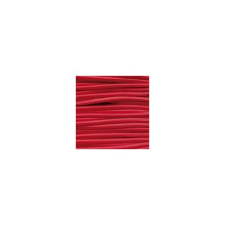 Cordon élastique 2mm Rouge /50 cm
