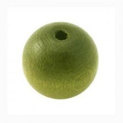 Perle en bois vert 20MM