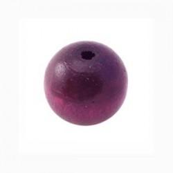 Perle en bois 15mm amethyst