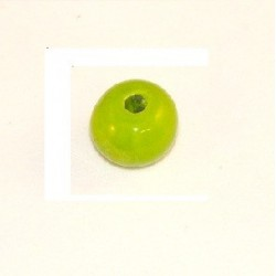 Perle céramique 16mm vert flash émaillé