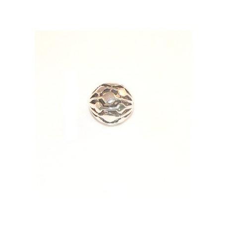 Perle argentée 14mm