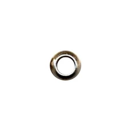 perle métal ronde 10x6x4mm