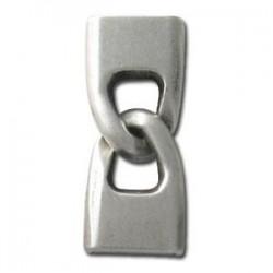 Fermoir métal 2 parties 33*15mm