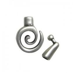 Fermoir métal 2 parties spirale 26*20mm