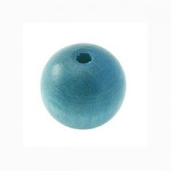 Perle en bois turquoise 15MM