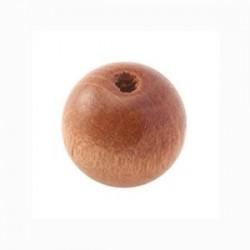 Perle en bois 15mm Naturel Foncé