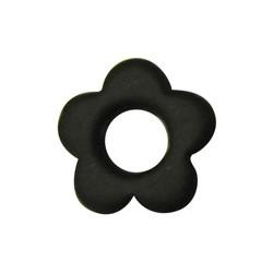Fleur Noir satin 34 mm