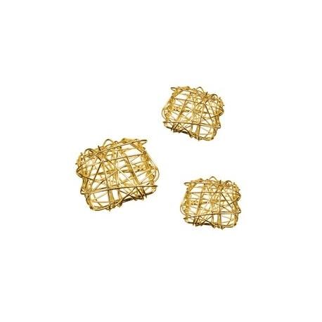 perle en fer plat carré / 3pièces