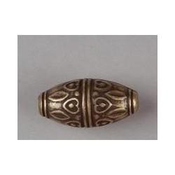 Perle bronze ovale avec coeur 28*13mm