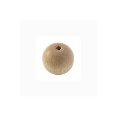 Perle en bois 12mm Naturelle vernis