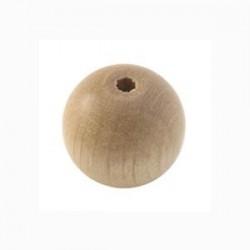 Perle en bois 15mm Naturelle vernis