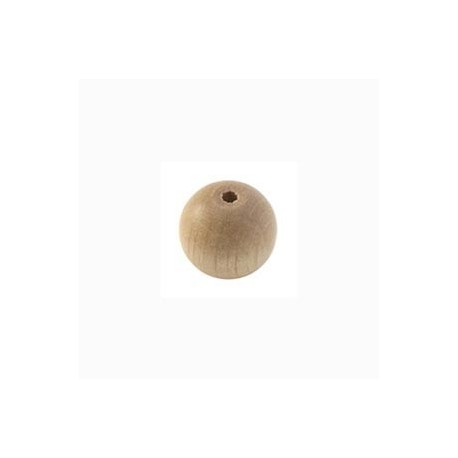 Perle en bois 10mm naturel vernis