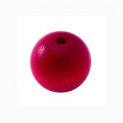 Perle en bois 15mm fushia