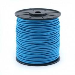 Cordon élastique 3mm Turquoise /10 cm