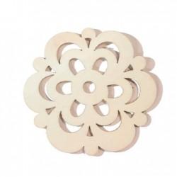 fleur fantaisie en bois +-60mm