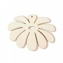 Fleur 10 pétales en bois +-60mm