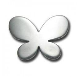 Papillon argenté 45x34mm