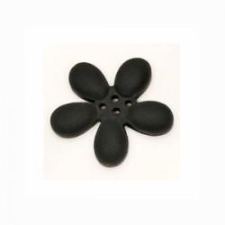 Orchidee résine 4 trous 20mm noir