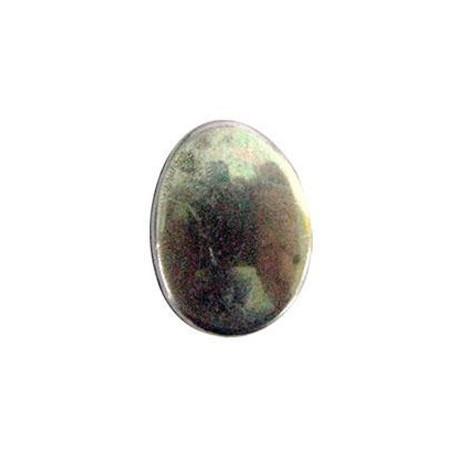 Perle métal argenté oval lisse 30*21mm