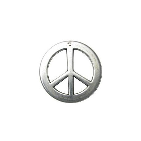 Pendentif CCB rond Peace anf love 50mm
