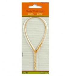 Bracelet pour perles or mat 16CM 1,2MM