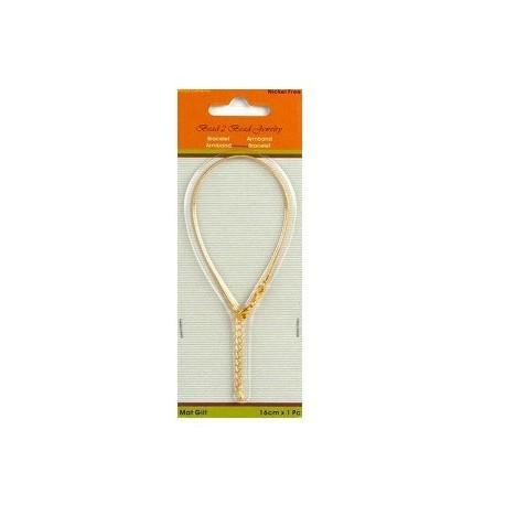 Bracelet pour perles or mat 16CM 1,2MM - Tanaïs 6530e1670bba