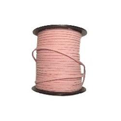 Lanière daim artificielle rose/ 1m