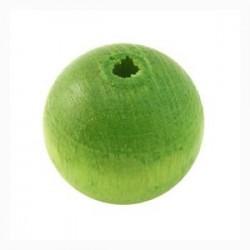 Perle en bois 20mm vert