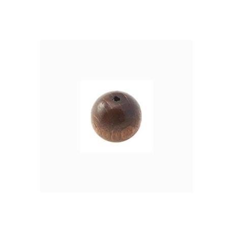 Perle en bois 10mm Brun Foncé