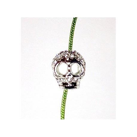 Perle strass Tête de Mort 15x12 mm