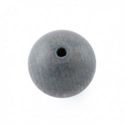 Perle en bois 15mm gris