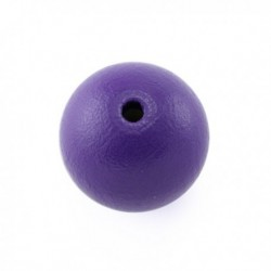 Perle en bois 15mm violet