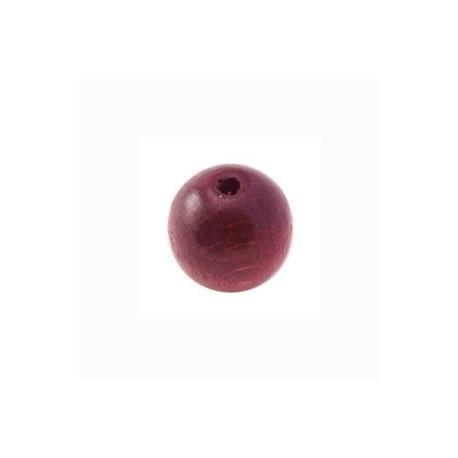 Perle en bois 12mm bordeaux