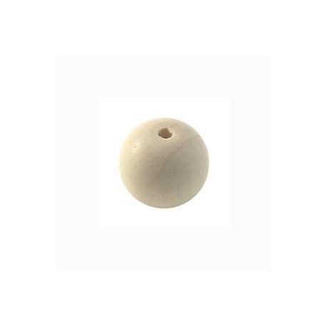 Perle en bois 12mm naturel