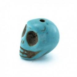 Perle pierre Tête de Mort turquoise 14x11 mm