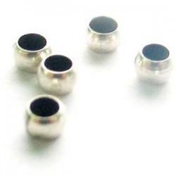 Perle à écraser 3mm argentée /20p