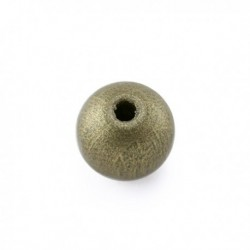 Perle en bois or 12MM