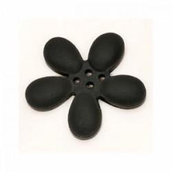 Orchidee résine 4 trous 30mm Noir