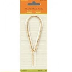 Bracelet pour perles or mat 16CM 2MM