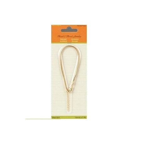 Bracelet pour perles or mat 16CM 2MM - Tanaïs 7699104aec36