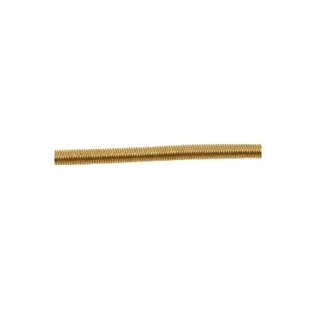 Cordon élastique 3mm beige foncé /1m